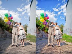 Цветокоррекция свадебного фото