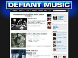 Дизайн портала Defiant-Music