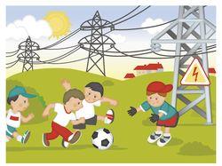 Иллюстрация для стенда по электробезопастности