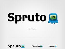 Логотип для видео портала Spruto TV