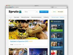 Дизайн видео-портала Spruto TV