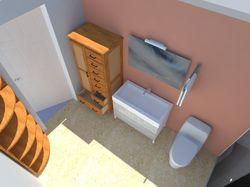 Ванная комната в стиле ретро.