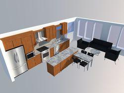 Кухня. Расположение в пристройке 2-го этажа.