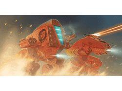 Анимированные баннеры игры «Conflict Robots»