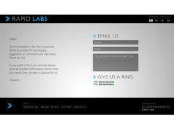 Rapid Labs Contacts Page