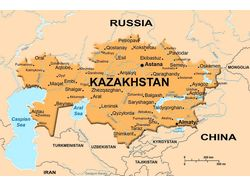 Псевдо 3D карта Казахстана