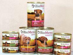 Упаковки кормов для кошек и собак BioMenu