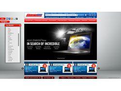 Ре-дизайн интернет-магазин Comp US