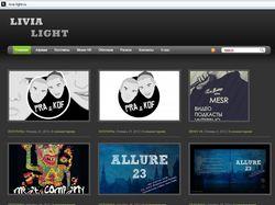 Сайт-портфолио дизайнера Livia Light