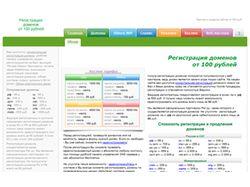 Регистрация доменов от 100 рублей
