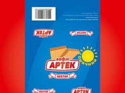 Упаковка вафель «Артек Сонячний»