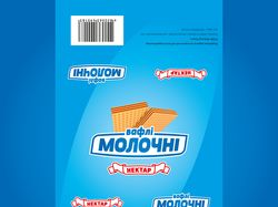 Упаковка вафель «Молочні»