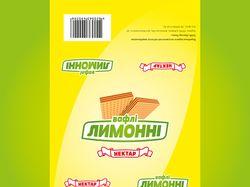 Упаковка вафель «Лимонні»