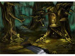 Лес где живут эльфы