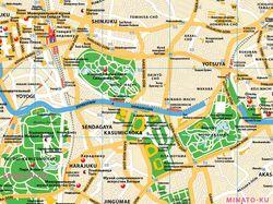 Токио фрагмент карты