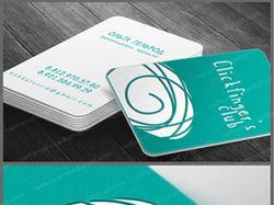 Сlick Fingers. разработка логотипа и визитки