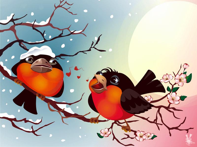 Картинка анимация, смешная картинка весна идет