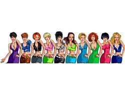 10 девушек для игры