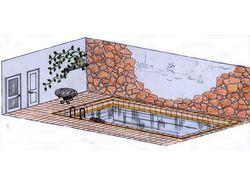 Бассейн в доме для гостей