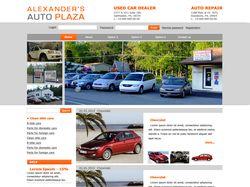 Дизайн сайта на автомобильную тематику.