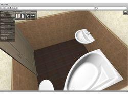 Interior - программа создания ванной комнаты