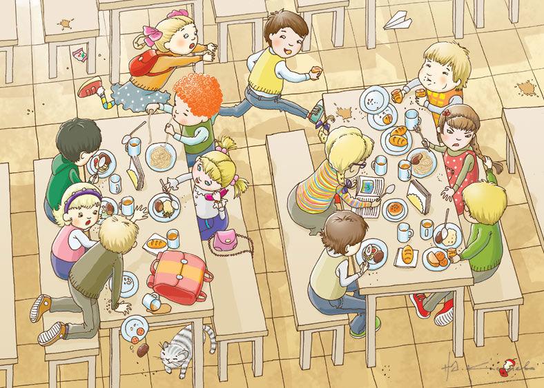 Картинки за столом в школе фото