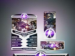 Оформление группы: Counter Strike