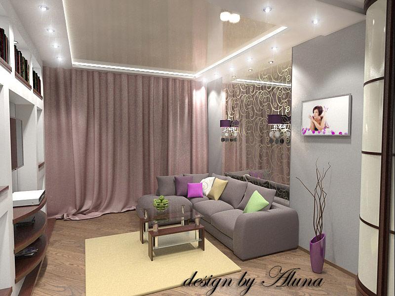 Дизайн интерьера одной комнаты 17 кв.м