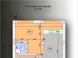 План первого этажа 3-х этажного дома