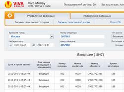 CRM/ERP Viva Деньги (верстка+клиентское программ.)