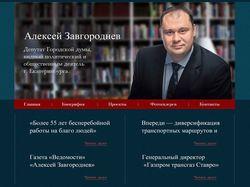 Сайт-визитка политического деятеля