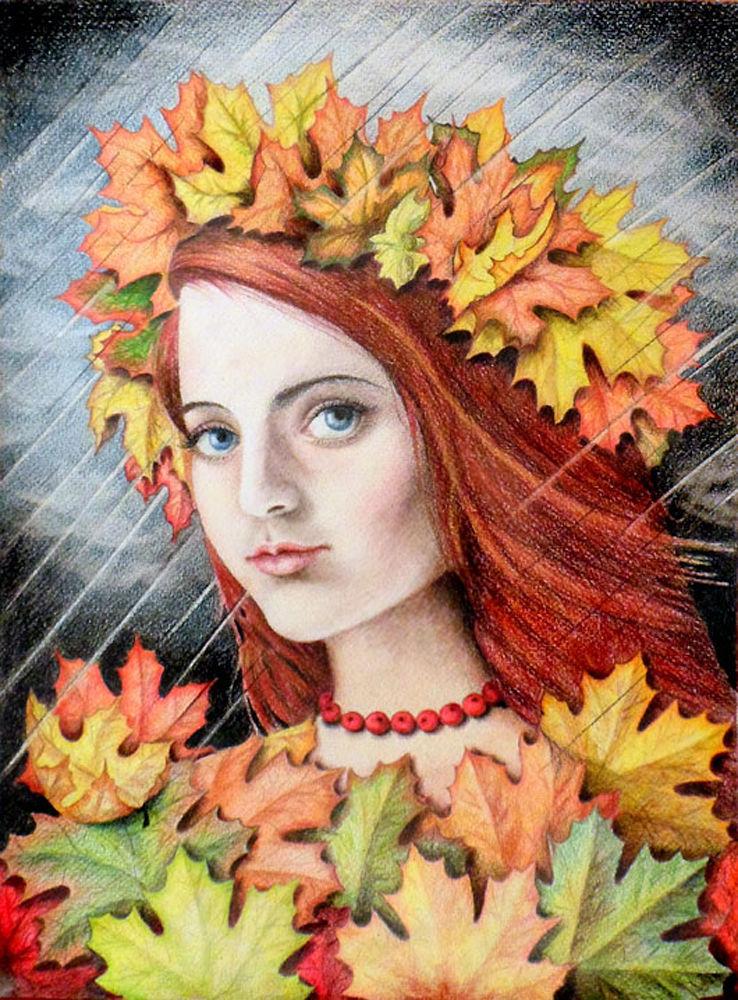 осень фото рисунок