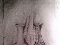 Натюрморт , дерево, металл, стекло
