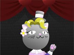 "Эскиз куклы кошки для ""Театра на руку"""