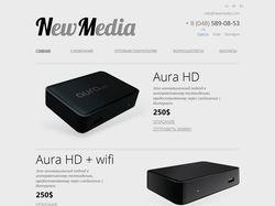 Главная страница сайта NewMedia